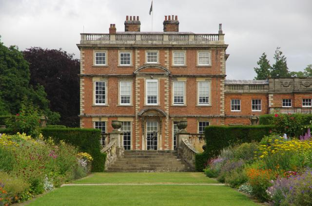 Newby Hall from the double border.