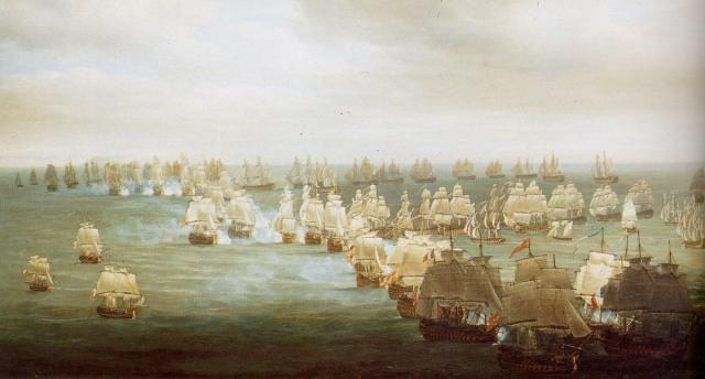 The Battle of Trafalgar by Nicholas Pocock