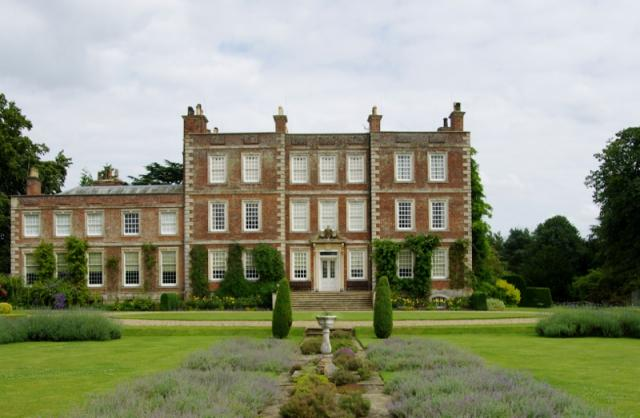 Gunby Hall from the Gardens.