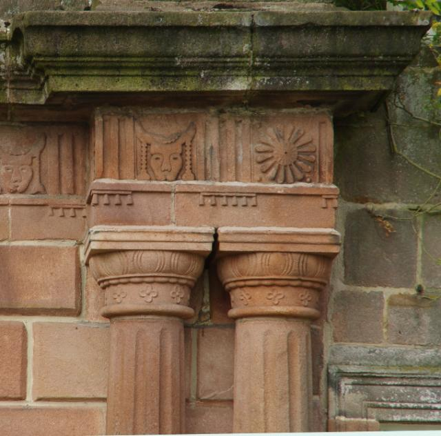 Detail of Doric order at Browsholme Hall.
