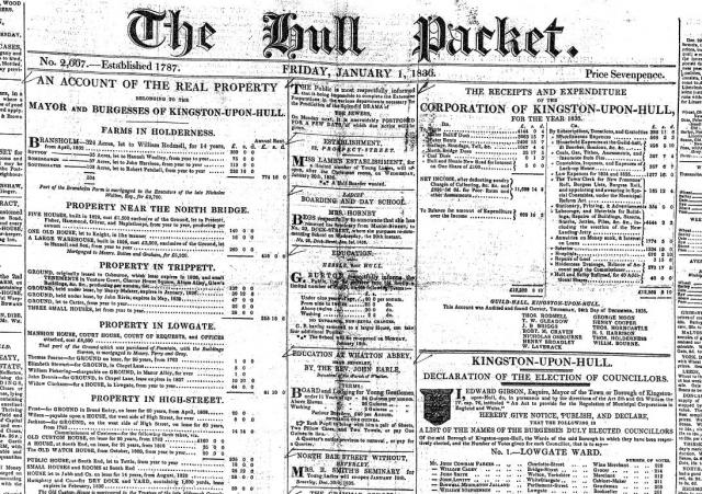 The Hull Packet, 1836