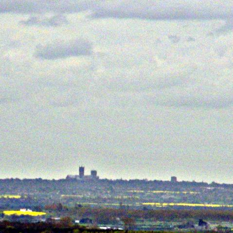 Lincoln Cathedral on the horizon.