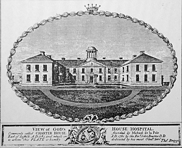 Engraving of the Charterhouse, Hull.