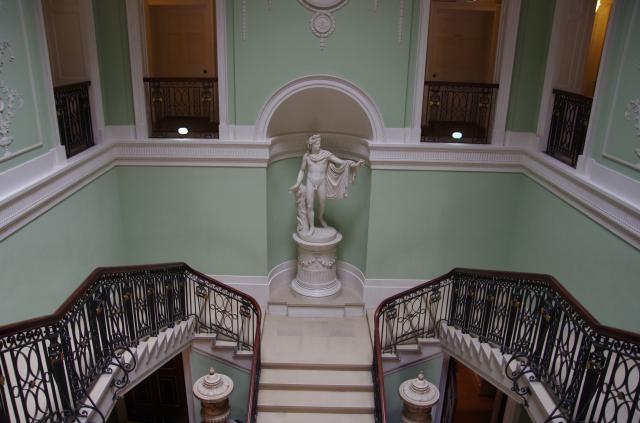Main staircase at Sledmere House