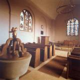 St Margaret's Church, Hilston, Interior.