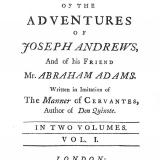 The history of the adventures of Joseph Andrews and of his friend Mr Abraham Adams