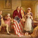 Betsy Ross and the first American flag.