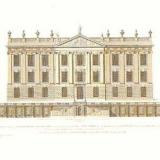 The West Front of Chatsworth from Colen Campbell's Vitruvius Britannicus